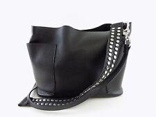 STEVE MADDEN BOHO Black STUDDED STRAP HOBO Shoulder Bag Handbag PURSE