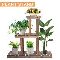 3 Tiers Plant Stand Flower Rack Wood Shelf Outdoor Indoor Garden Corner Decor US