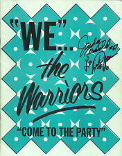 """"""" We the Warriors """" Roller Games Derby Yearbook signed Judy Arnold Richard Brown"""
