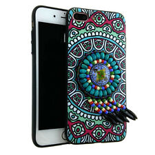 For Apple iPhone - Turquoise 3D Dream Catcher Tribal Slim TPU Cover Case All