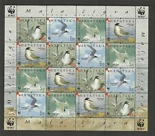 WWF WORLD WILDLIFE FUND CROATIA 2006 BIRDS SHEET 4 Sets