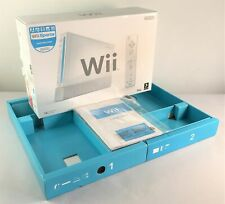 Nintendo Wii Console Empty Box + Insert Trays + User Manuals Very Good Condition