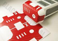 DJI Phantom RED Carbon Fiber Battery Skin Stickers Graphic Wrap Decal 1 2 3 p3