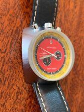 Stunning Vintage Swiss Sorna Jacky Ickx 1970s Easy Rider Bullhead Chronograph