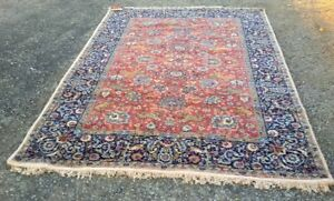 Vtg Wool Rug With a Storyline 170 x 245 cm Beautiful Carpet