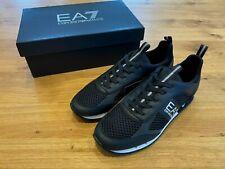 EA7 Emporio Armani X8X027 XK050 Mesh Sneaker Run Trainer Black Size 7-12 RRP£165