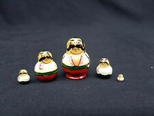 Russian Matryoshka Nesting Dolls Miniature 5 Piece Mustache Italian Men Set