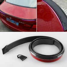 Universal Carbon Fiber PU Car Rear Roof Trunk Spoiler Wing Lip Sticker Decal New