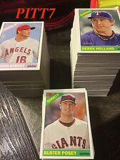 2015 TOPPS HERITAGE COMPLETE SET W/O SP'S CARD # 1 - 425 TROUT SOLER BAEZ RC