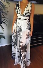 MARIA LUCIA HOHAN Sexy Sheer Plunging Neckline Dress Gown Size FR 36 US 4