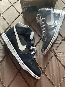 2008 Nike SB Dunk High Pro Venom Black/White Size 12 305050-016 100% Authentic