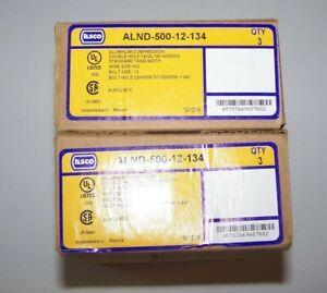 Ilsco (3) ALND-500-12-134 500 MCM Aluminum Compression Double Hole Tang Lug