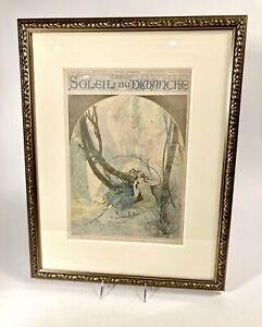 1896 SOLEIL DU DIMANCHE Magazine Chromo Litho Cover, Alphonse Mucha
