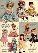 1955 PAPER AD 3 PG Doll Dolls Happi Time Dream Girl Saucy Walker Curly Annette
