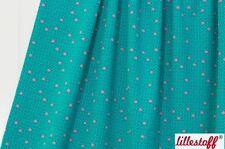 Lillestoff Bio Sweat Alpaca Kombi (grün, Punkte - rosa)