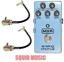 MXR Dunlop M-234 Analog Chorus Guitar Effects Pedal M234 ( 2 MXR PATCH CABLES )