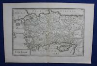 Original antique map ANATOLIA, TURKEY, CYPRUS, 'ASIA MINOR', Cellarius, 1799