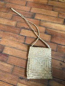 Ladies Girls Natural Brown Bamboo Shoulder Bag Unusual Design