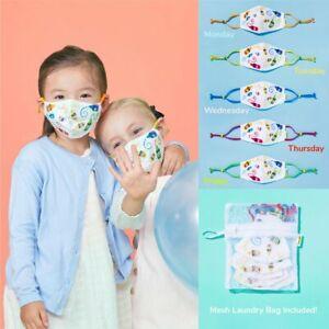 5PCS cute Anime characters - Reusable Cloth Face Mask Set Kids Masks For Kids