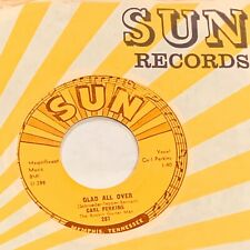 CARL PERKINS: Glad All Over / Lend Me Your Comb SUN 287 Rockabilly 45 VG++