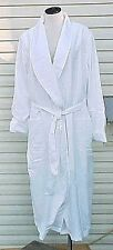 NEW Womens Robe L / XL White wrap around Gilligan & O' Malley cotton lined