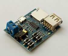 MP3 Decoder Audio Player Verstärker Modul für MicroSD Card oder USB-Stick