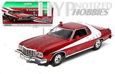 Luz Verde 1:18 Starsky & Hutch 1976 Ford Gran Torino Rojo Cromo Edición 19023