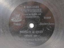 78rpm E. BERLINER GRAMOPHONE - HUNTING HORNS: TROUPE ERMENEUX DU JARDIN DE PARIS