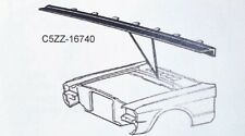 1965-66 Mustang Firewall Hood Seal with installed clips  C5ZZ16740