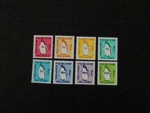 Falkland Islands Stamps SG D1/D8 complete set of 8 Postage Dues MNH issued 1991.