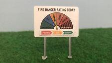 AUS Fire Danger Rating Signs (Laminated Paper Models) – 9 Pk