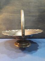 Art Deco / Arts & Craft Antique English Hand Hammered Pewter Bowl Dish