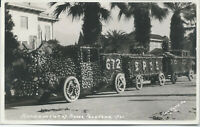 Tournament of Roses Parade, Pasadena, CA., Early Real Photo Postcard, Unused