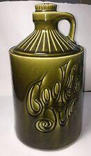 """VINTAGE AVOCADO GREEN COOKIE JAR -JUG SHAPE- 11""""-MCCOY"""