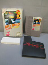 "Nintendo ""METROID"" Video Game w/ Box & Insert 1987 NES Vintage"