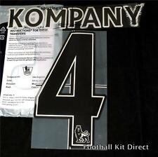 Manchester City Kompany 4 Name/Number Set Football Shirt Lextra 07-13 Home