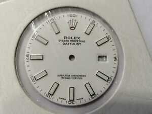 Original Rolex Datejust II 41 116300 Zifferblatt / Dial Weiß Neu