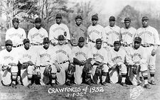 1932 PITTSBURGH CRAWFORDS WITH SATCHEL PAIGE & YOUNG JOSH GIBSON  8X10 PHOTO
