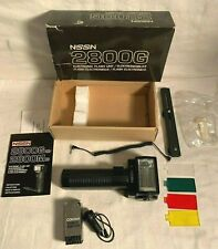 NISSIN NISTAR 2800G Electronic Camera FLASH UNIT Tested WORKS + Accessories