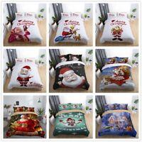 3D Santa Claus Bedding Set Father Christmas Duvet Cover Pillowcase Quilt Cover