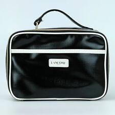 New! Lancome Black Cosmetic Train Case Makeup Bag Zipper Pouch