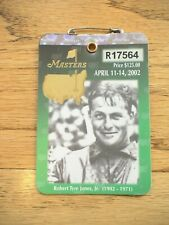 2002 Masters Golf Augusta National Badge Ticket Tiger Woods 3rd Win Very Rare