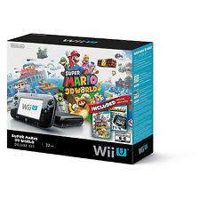 Brand New Nintendo Wii U Super Mario 3D World Deluxe Set 32GB Black Console