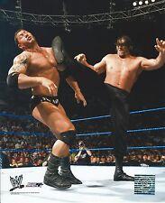 THE GREAT KHALI -VS- BATISTA WWE WRESTLING 8X10 PHOTO NEW #444