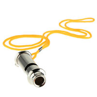 Police Bobby Security Metal Blowing Whistle with Neck Chain for Outdoor Sports