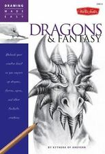 Walter Foster Drawing Made Easy Dragons And Fantasy Kythera of Anevern Art Book