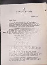 Sherwin Williams Dealer Correspondence 1930s/1940s Fairchild Hardware Towanda Pa