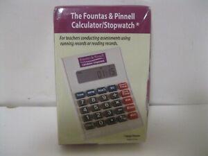 Heinemann The Fountas & Pinnell Calculator/Stopwatch - Brand New Sealed -