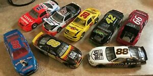 NASCAR LOT OF 8 -1:24 SCALE LOOSE DIECAST ASSORTMENT /GREAT FOR DISPLAY
