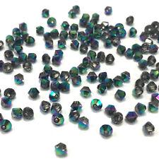 144 Swarovski 5328 Bicone Beads Jewelry Making 3mm CRYSTAL SCARABAEUS GREEN SCGR